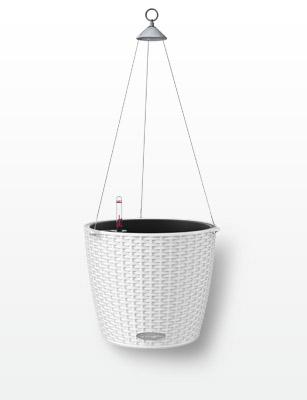 Hanging basket NIDO Cottage white