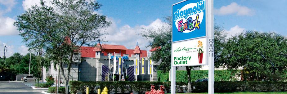LECHUZA Factory Outlet at PLAYMOBIL FunPark, Florida